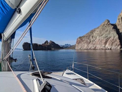 Sailing into Candeleros Chico