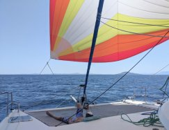 Pretty sail takes us to the south side of Coronados