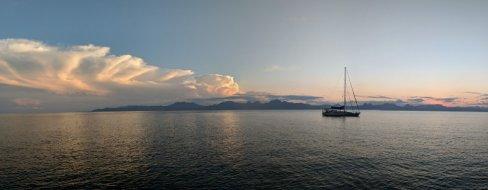 Pandion at sunset