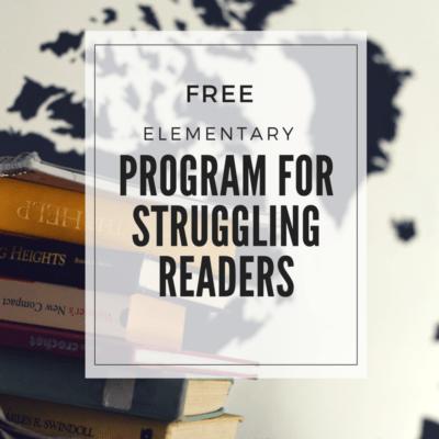 Free Reading Program for Struggling (or Beginning) Readers