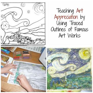 Free Art Appreciation Lesson Plans Using Traced Outlines of Famous Art Works