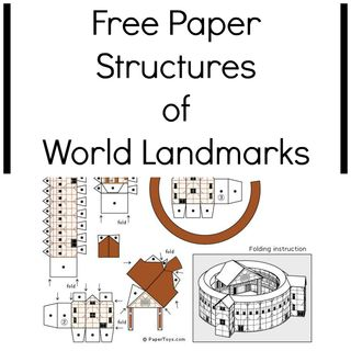 Free Paper Structures of World Landmarks