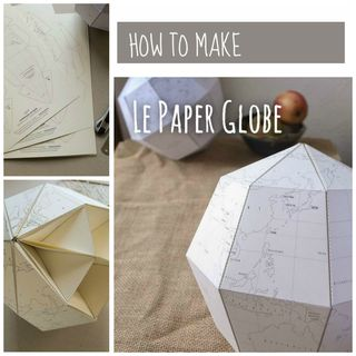 Free Template for a Paper Globe to Help Teach Geography & Geometry