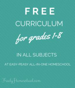 Free Homeschooling Curriculum for Grades 1-8