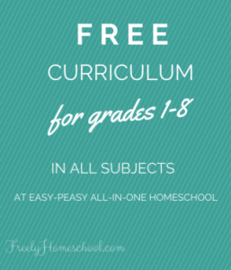 Free Homeschooling Curriculum for Grades 1-8