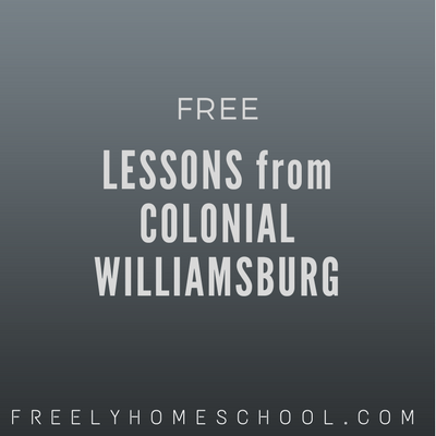 Through Sept 30:  Free Virtual Field Trip on the US Constitution from Colonial Williamsburg