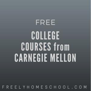 free college courses from carnegie mellon