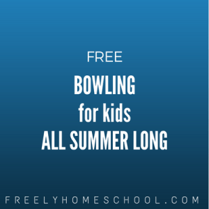 free bowling for kids all summer