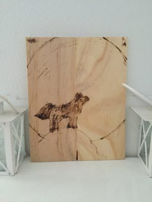Woodburned Wolf