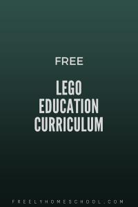 free Lego education curriculum