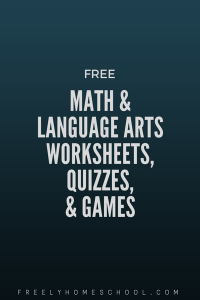 free math and language arts worksheets, quizzes, games
