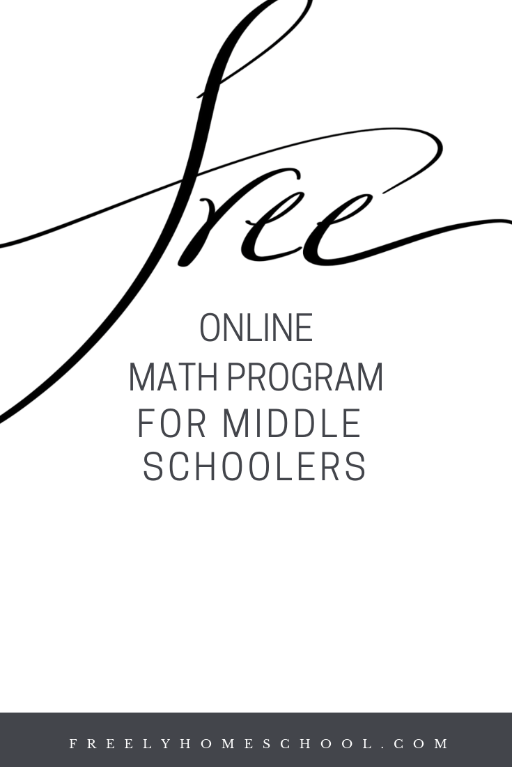 Free Online Middle School Math Program