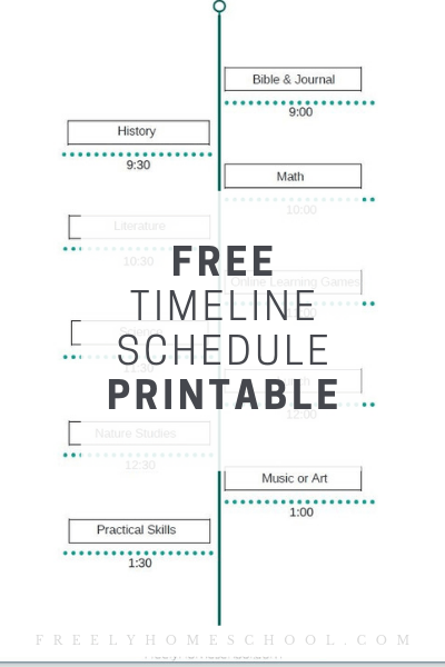 It is a picture of Printable Homeschool Schedule pertaining to 5th grade