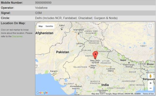 Mobile Number Location