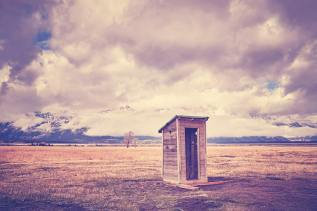 Backcountry toilet in the Grand Teton National Park, Wyoming, US