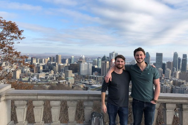 Harry Fox (left) and Reed Stephens (right), Lepage Center MBA Summer Fellows 2019