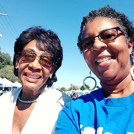 Larcenia L. Freeman with Congresswoman Maxine Waters