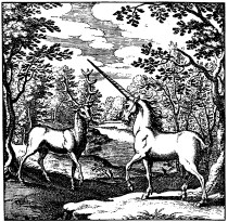Stag and an unicorn.