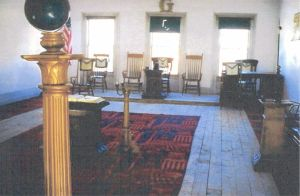 Inside Bannack Lodge today. Photo courtesy of M:.W:.Bro.David L. Prewett, PGM.