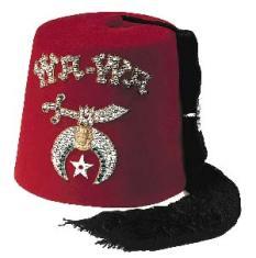 Shriner Fez, funny red hat, bucket hat