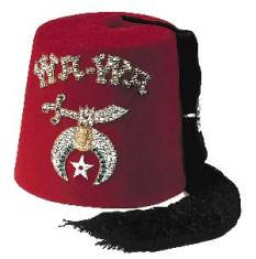 Shriner Fez, funny red hat, bucket hat