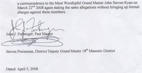 Masonic Charges - 2 of 2