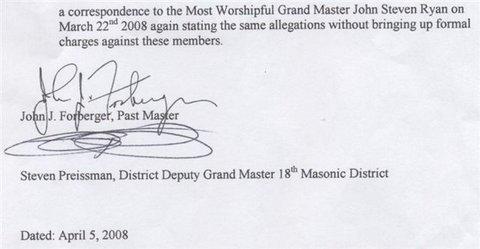 Masonic Charges - 2 of 2