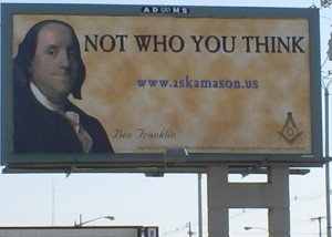Freemason billboards