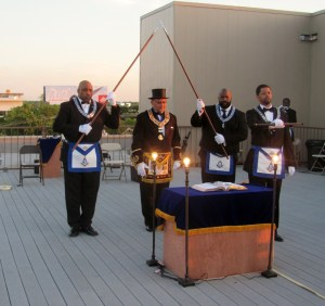 rooftop raising - opening the lodge