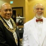 Fred with Grand Master Wilbert M. Curtis - MWPHGLTX