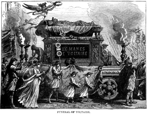 funeral of voltaire