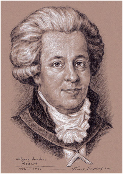 Wolfgang Amadeus Mozart. Freemason and Composer of Masonic Music, by Travis Simpkins