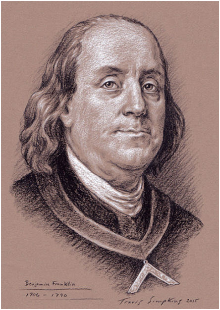 Benjamin Franklin. Statesman, Printer and Freemason, by Travis Simpkins