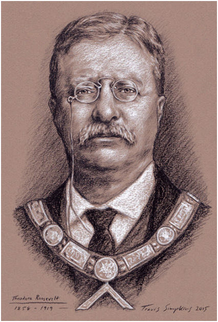 Theodore Roosevelt, 26th President of the United States. Freemason, by Travis Simpkins