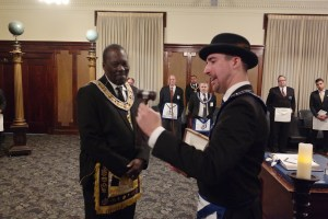 WM David Bindel Presents DGM Michael T. Anderson The Gift Of A Gavel