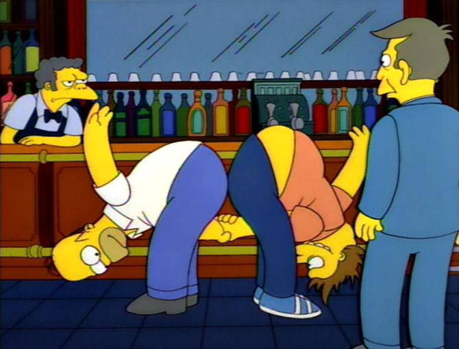 Simpsons Handshake