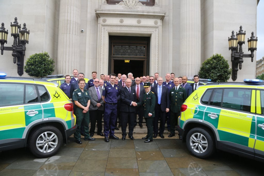 Five Volkswagen Tiguan rapid response cars to help support London Ambulance donated by London Ambulance