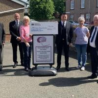 Freemasons cheques support food bank and disabled riding charity