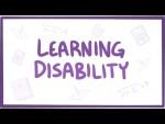 Learning disability - definition, diagnosis, treatment, pathology
