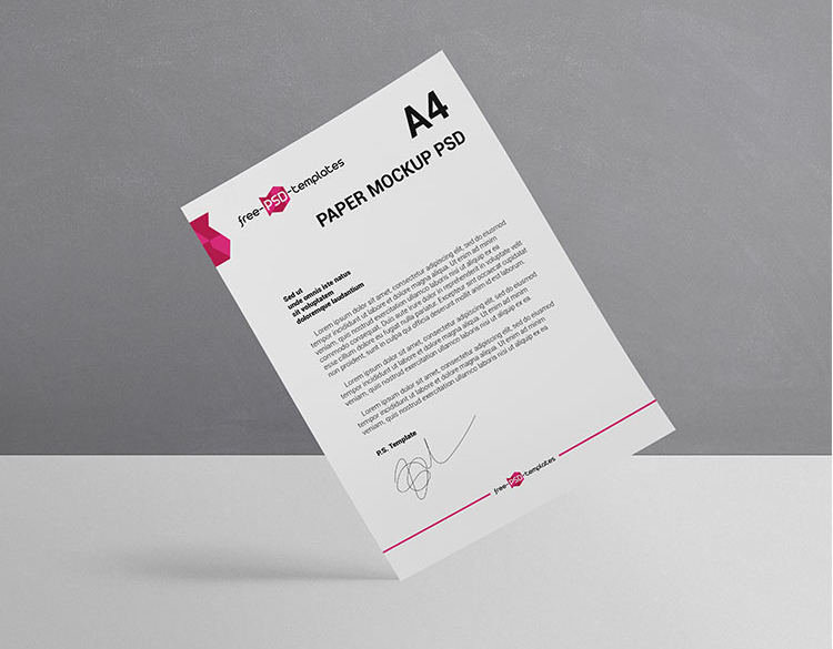 Download Free A4 Paper Mockup Set - FreeMockup.net