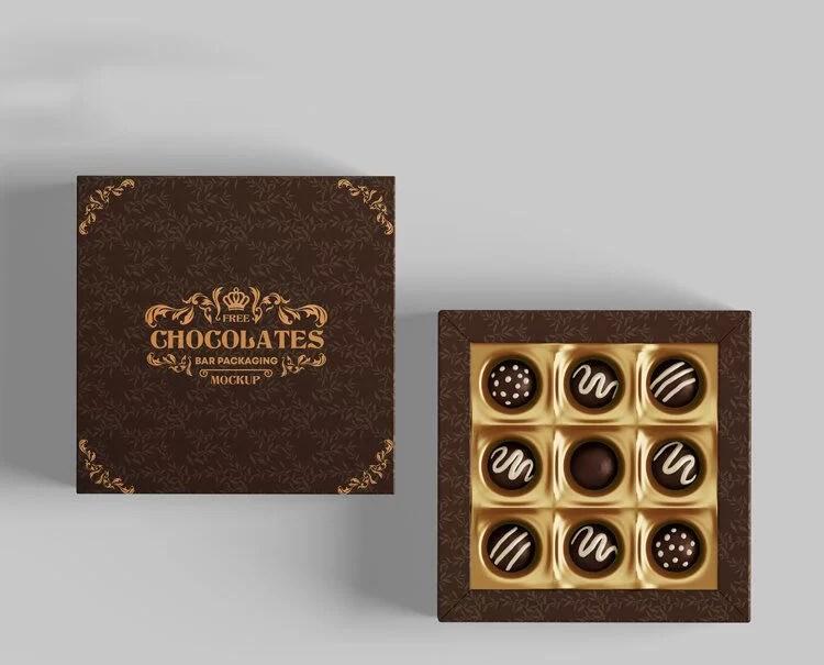 Download Free Chocolate Packaging Box Mockup (PSD) - FreeMockup