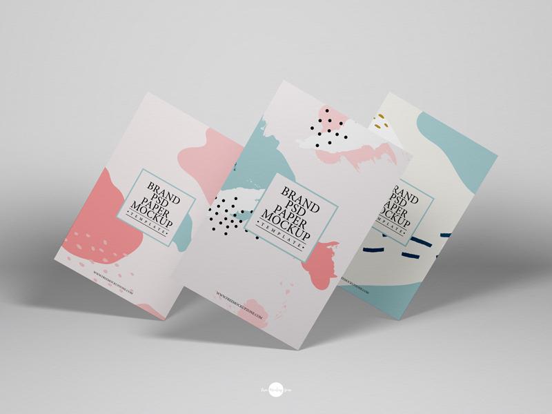 Free Brand PSD Paper Mockup Template - Free Mockup ZoneFree Mockup Zone