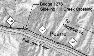 free model railroad plans Western Maryland Map Bridge 1276 Sideling Hill