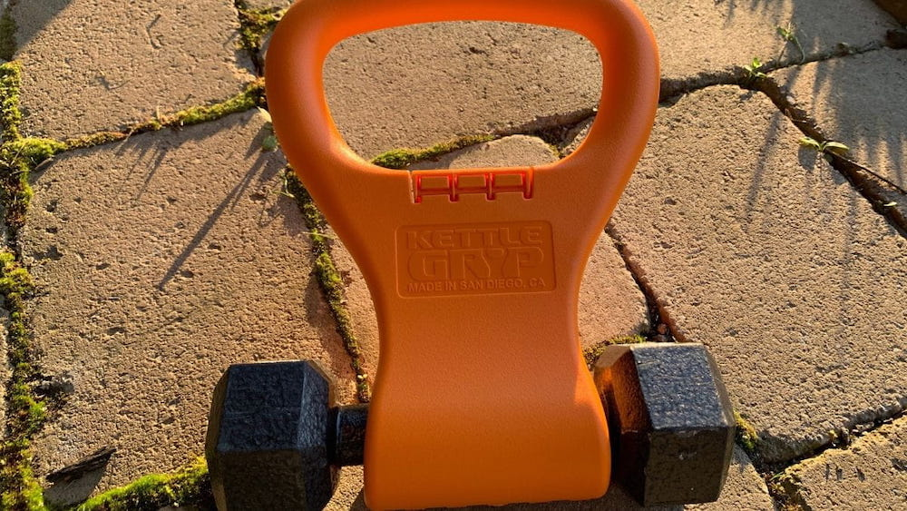 turn a dumbbell into a kettlebell with KettleGryp