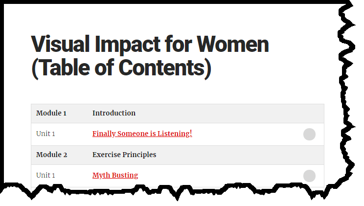 Visual Impact for Women program