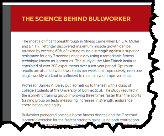 The science of bullworker