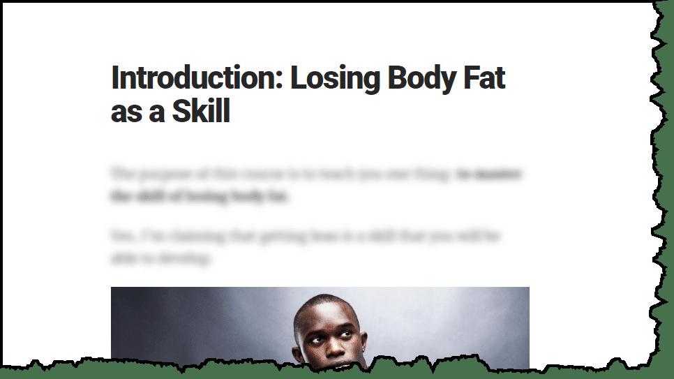 losing body fat as a skill