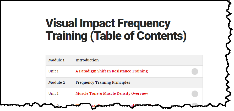 What's inside Visual Impact Frequency Training