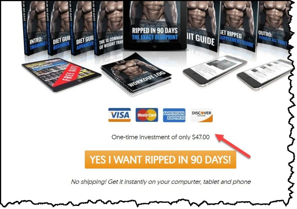 How much is ripped in 90 days?