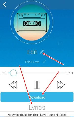 eidt song name on Simple mp3 Downloader Pro